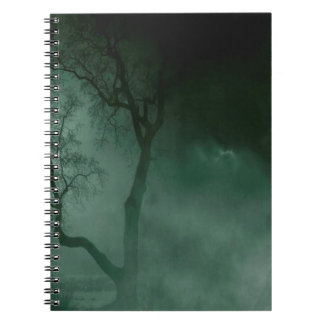 Abstract Fantasy Standing Alone Night Spiral Note Books