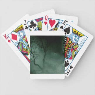Abstract Fantasy Standing Alone Night Bicycle Playing Cards