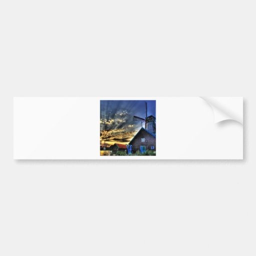 Abstract Fantasy Super Windmill View Bumper Stickers