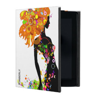 Abstract Fashion Girl Silhouette iPad Folio Case
