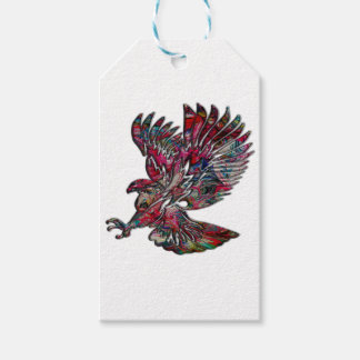 Abstract Faux Metallic Tribal Eagle
