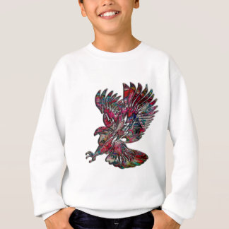 Abstract Faux Metallic Tribal Eagle Sweatshirt