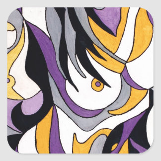 Abstract Female 7 Sticker