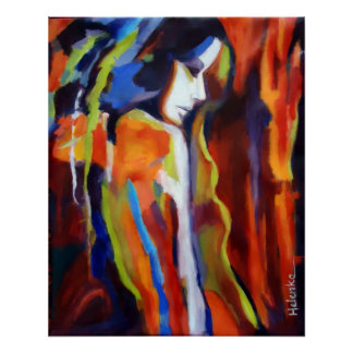 Abstract Female Figure Painting - Art prints