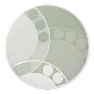 Abstract Fern Frond - Dark Green - Drawer Knob