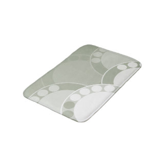 Abstract Fern Frond - Light Green - Bath Mat