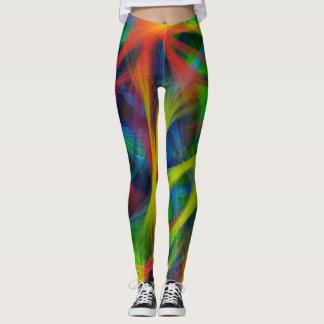 Abstract Fibers Leggings