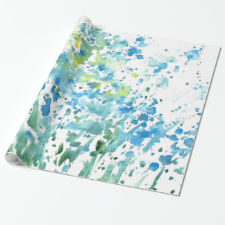 Abstract Field of Flowers Wrapping Paper