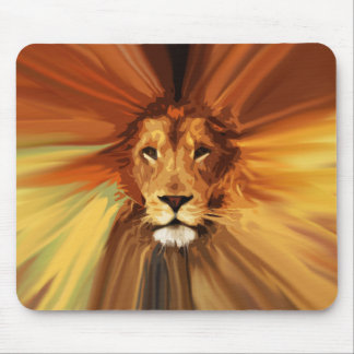 Abstract Fierce Lion Mouse Pad