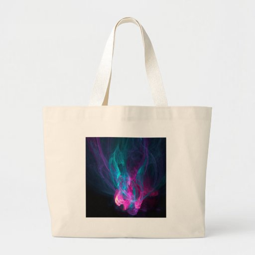 Abstract Fiery Descent Tote Bags