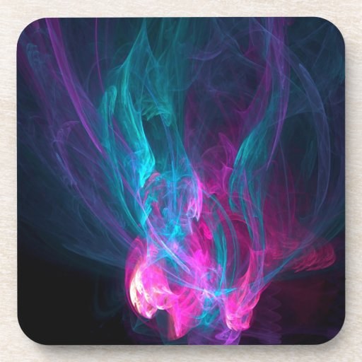 Abstract Fiery Descent Beverage Coasters