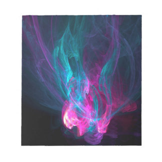 Abstract Fiery Descent Memo Pad