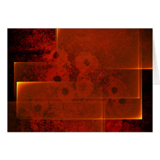 Abstract fiery landscape horizontal card