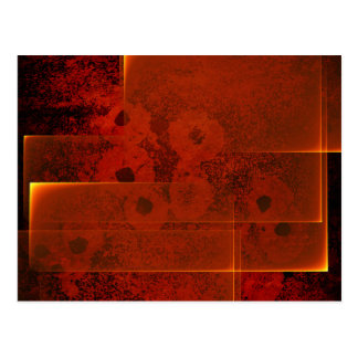 Abstract fiery landscape horizontal postcard