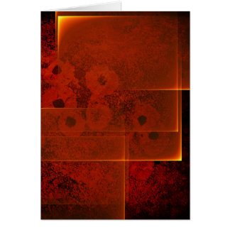 Abstract fiery landscape vertical card