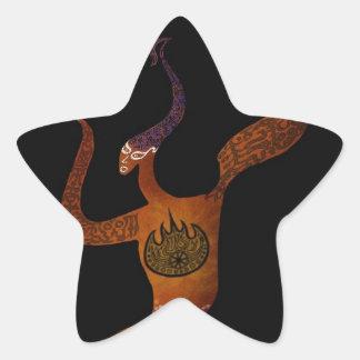 Abstract Figure Star Sticker