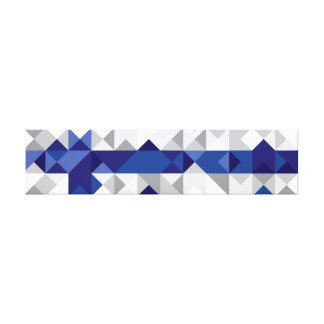 Abstract Finland Flag, Finnish Colors Canvas Print