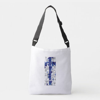 Abstract Finland Flag, Finnish Colors Crossbody Bag