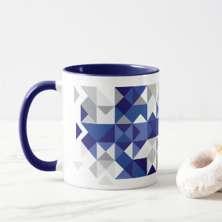 Abstract Finland Flag, Finnish Colors Mug