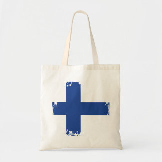 Abstract Finland Flag, Finnish Colors Tote Bag