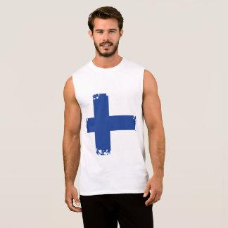 Abstract Finland Flag, Finnish Colours Sleeveless Shirt