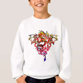Abstract Fire Breathing Tribal Dragon Sweatshirt