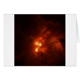 Abstract Fire Cloud Burst Greeting Card