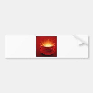 Abstract Fire Hot Caldren Bumper Stickers