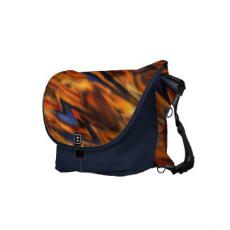 Abstract Fire & Ice Rickshaw Commuter Bag Courier Bags