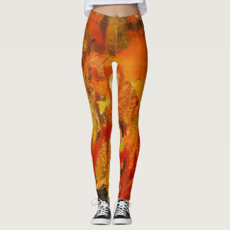 abstract fire leggings