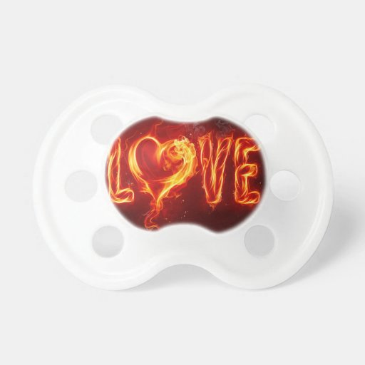 Abstract Fire Love Heart Pacifier