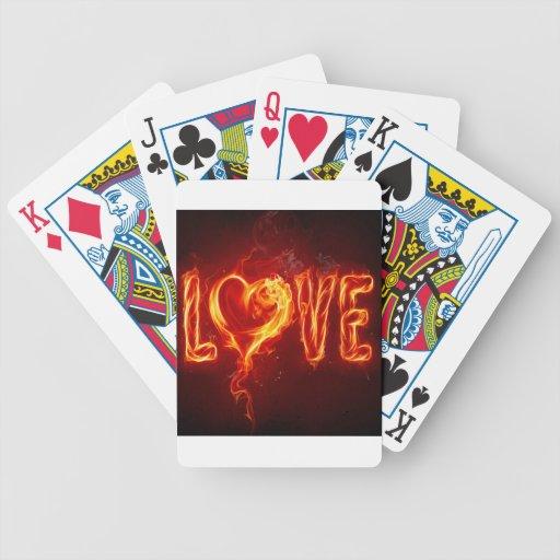 Abstract Fire Love Heart Poker Deck