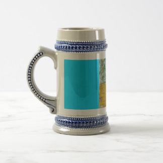 Abstract Fire Panels 18 Oz Beer Stein