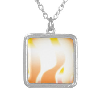 Abstract Fire Silver Plated Necklace