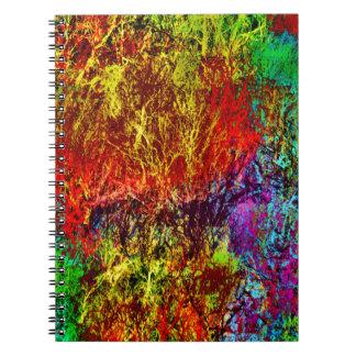 Abstract Fire Spiral Notebook
