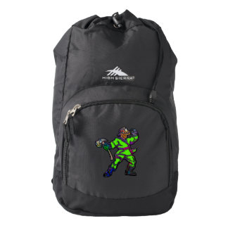 Abstract Firemen Backpack