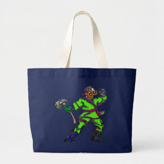 Abstract Firemen Large Tote Bag