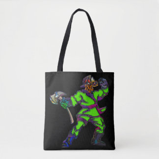 Abstract Firemen Tote Bag