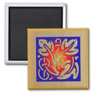 Abstract Fireplace Magnet