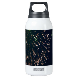 Abstract Fireworks Green Chandelere Insulated Water Bottle