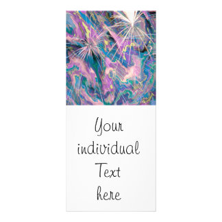 abstract fireworks customized rack card