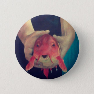Abstract Fish 6 Cm Round Badge