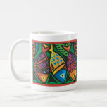 Abstract Fish Art Design Basic White Mug