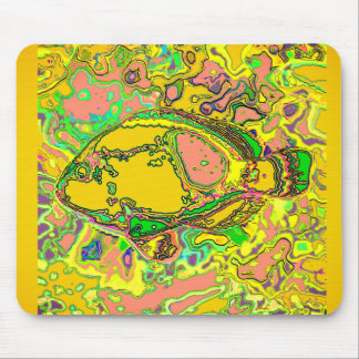 Abstract_Fish_Art_Multi-Colors-Unisex Mouse Pad