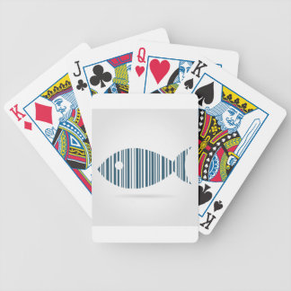 Abstract fish bicycle playing cards