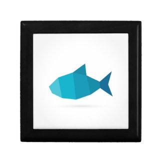 Abstract fish gift box