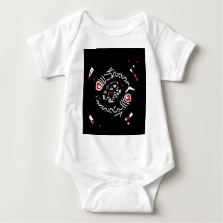Abstract fishes baby bodysuit