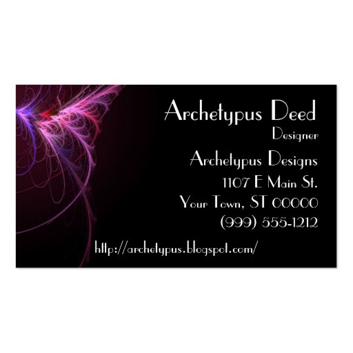 Abstract Flair Business Card 1