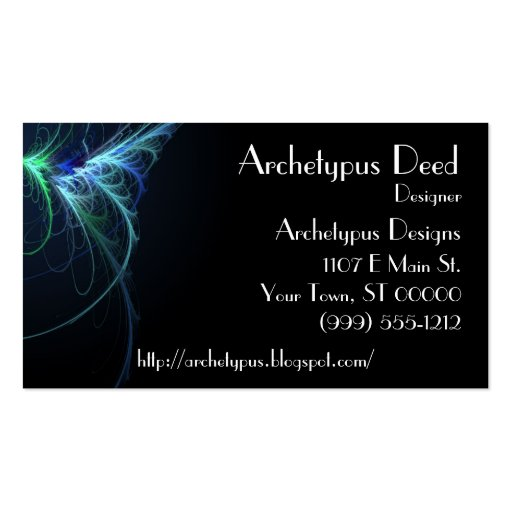 Abstract Flair Business Card 2