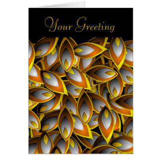 Abstract Flame Leaf Greeting Card